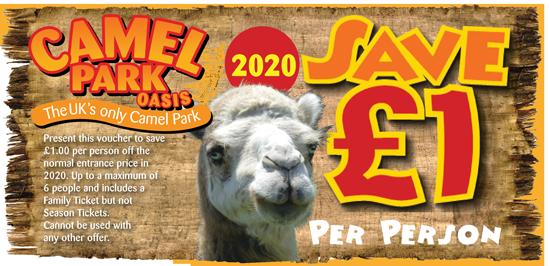 Camel Park Oasis £1 discount voucher for 2020